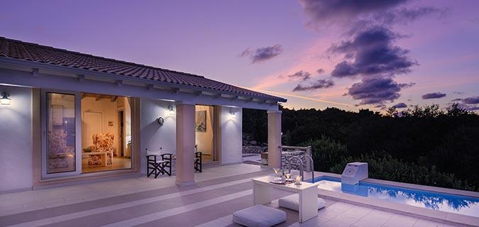 Lovers Nest Antipaxos Villa Night
