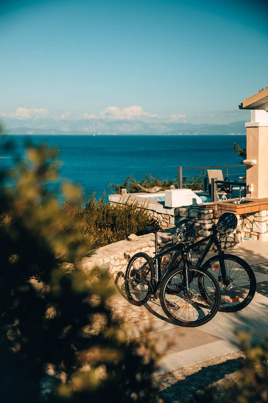 Lovers Nest Bicycles and BBQ Area
