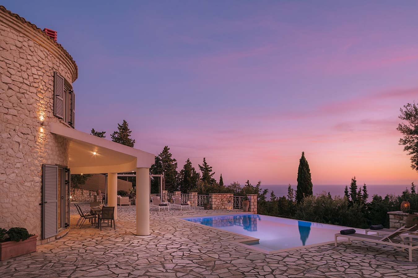 Round-House Paxos Villa Sunset 2
