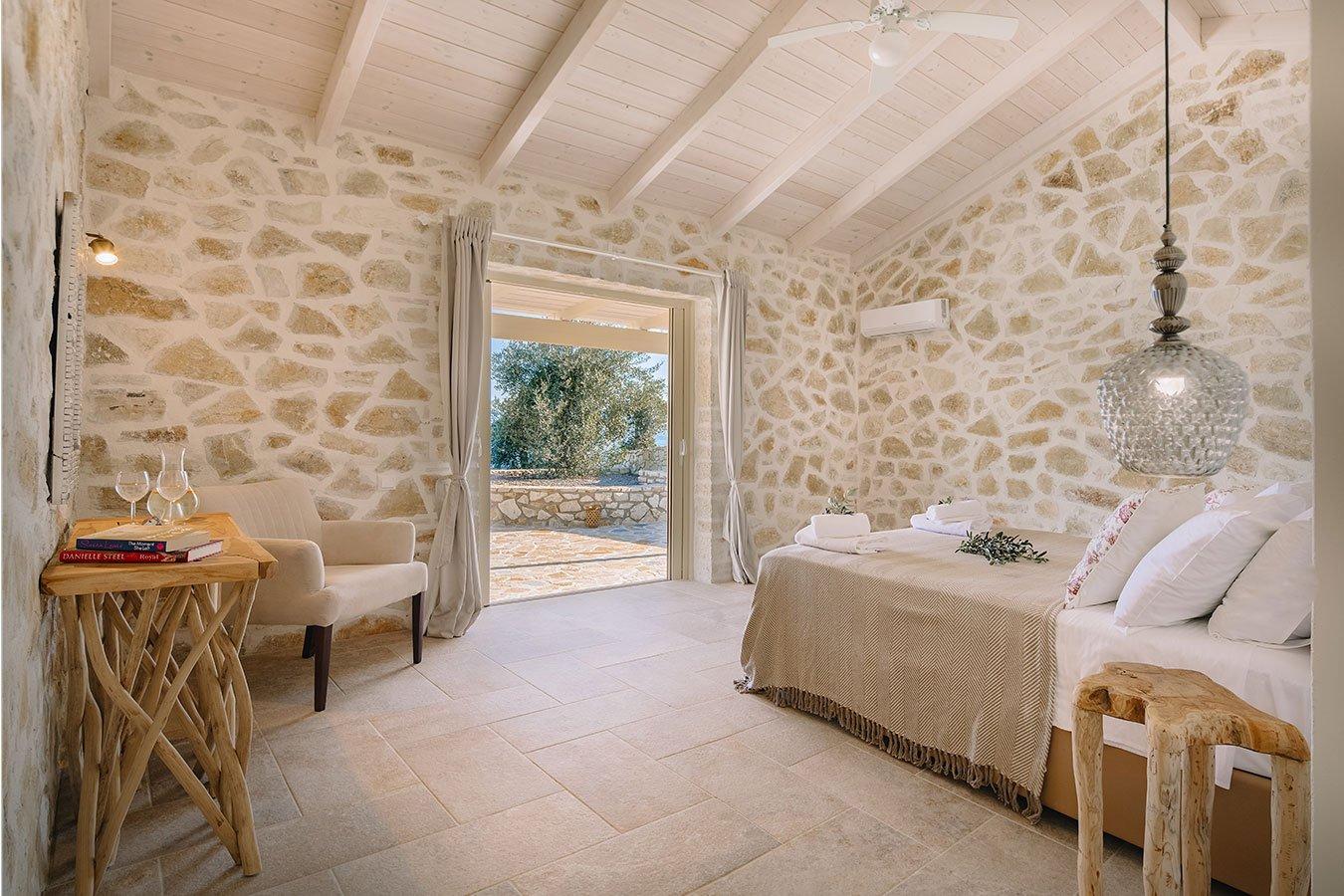 Sapfo Villa Paxos Bedroom View 3
