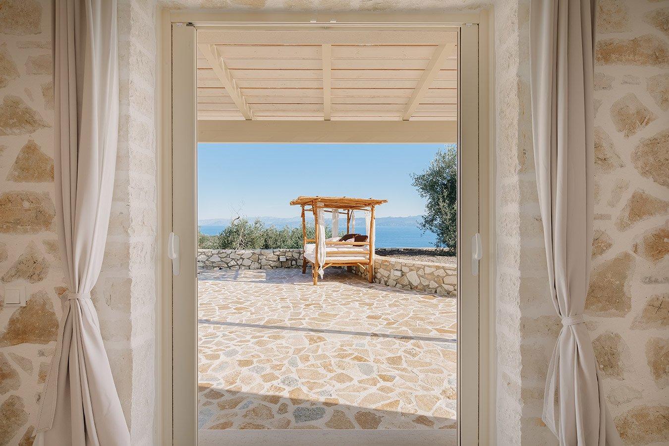 Sapfo Villa Paxos Bedroom View 2