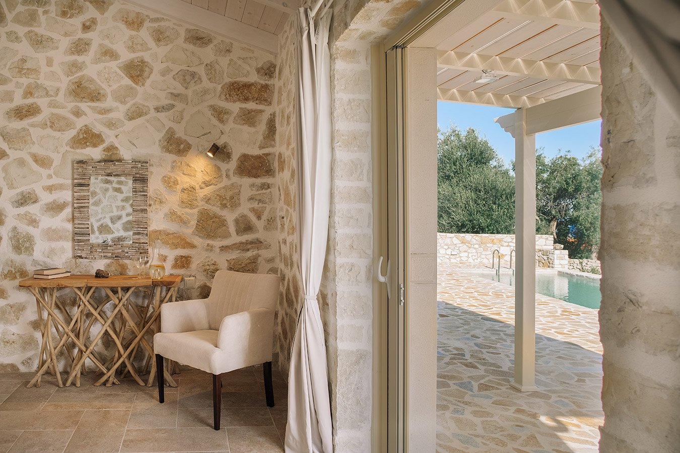 Sapfo Villa Paxos Bedroom View