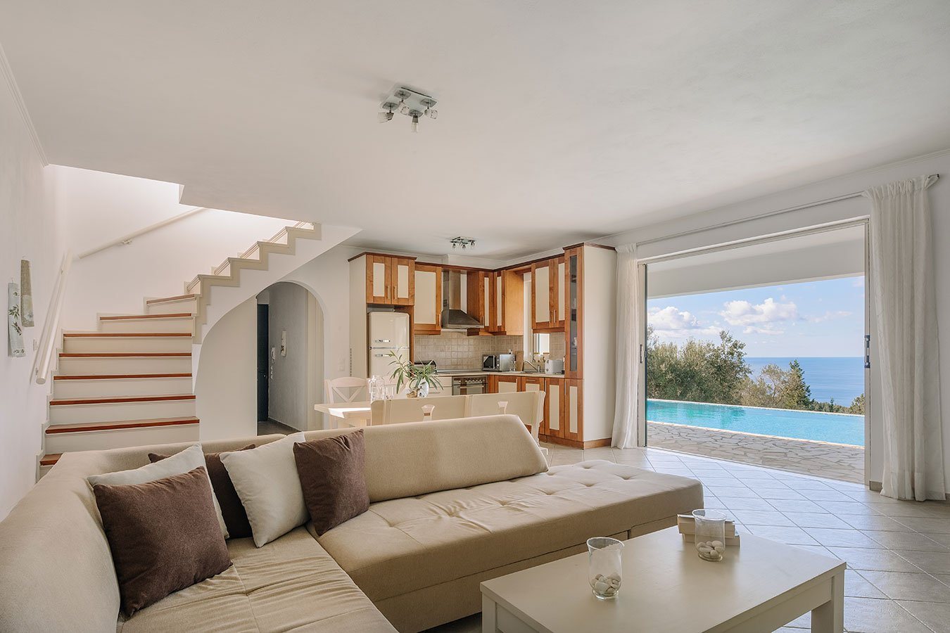 Nika Paxos Villas Livingroom